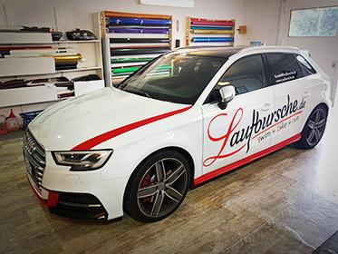 Auto folieren Berlin - Werbung